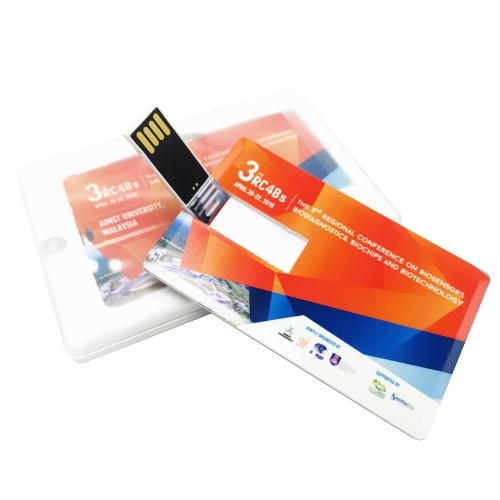 Full colour credit card USB flash drive from easydrive Malaysia. High quality UV print with  lowest price from RM 11.00 onwards
