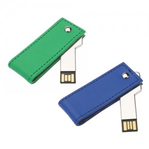 Slide PU Leather Pen Drive .PU-012