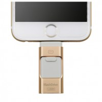OTG Pen Drive 3 in 1 - Gold