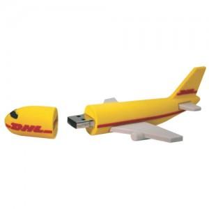 Soft PVC Airplane Pen Drive