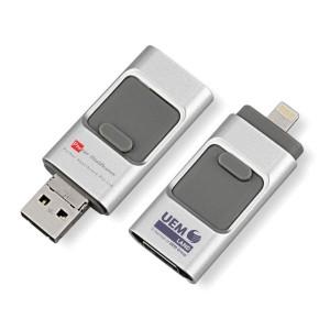 OTG Pen Drive 3 in 1(Micro USB, iOS + USB)