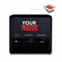 Dual USB Adapter-Black Front Logo