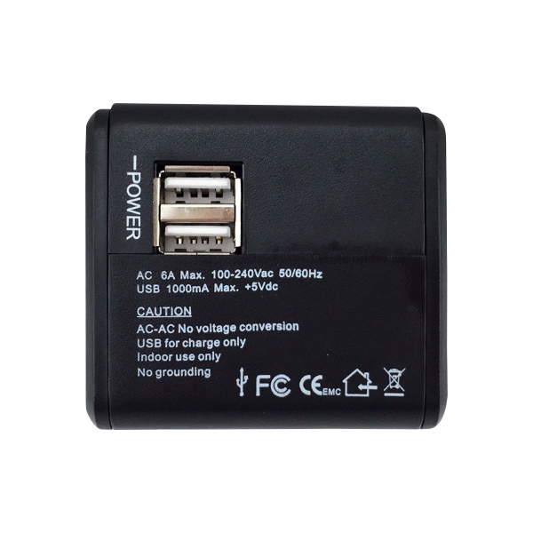 Dual USB Adapter-Front view