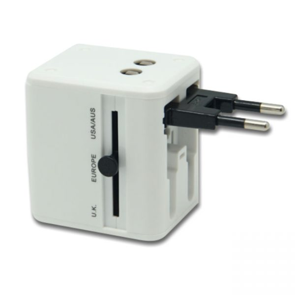 Dual USB Adapter-White Stand