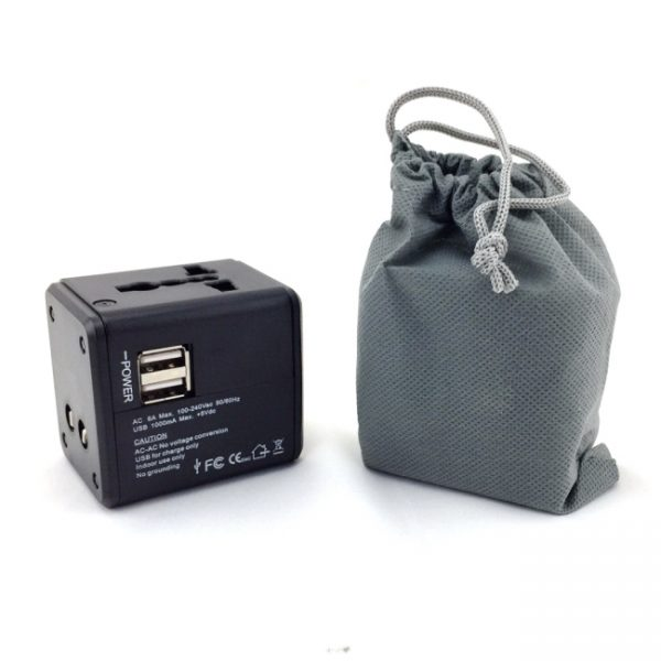 Dual USB Adapter-with bag