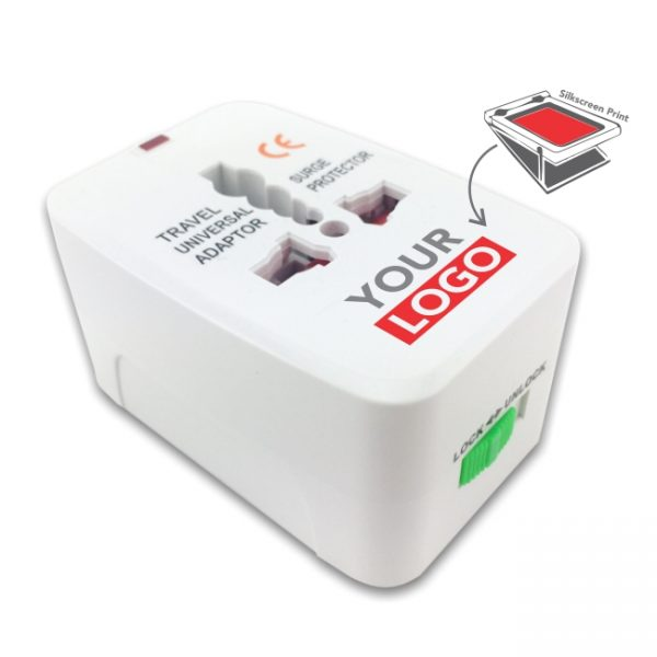 travel adapter with logo