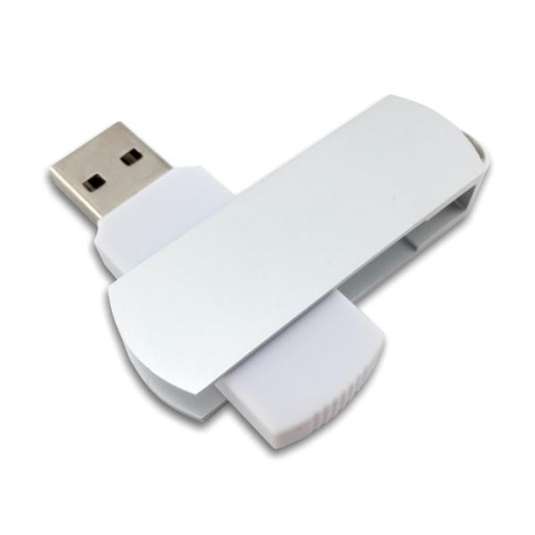 Flip USB Metal - White