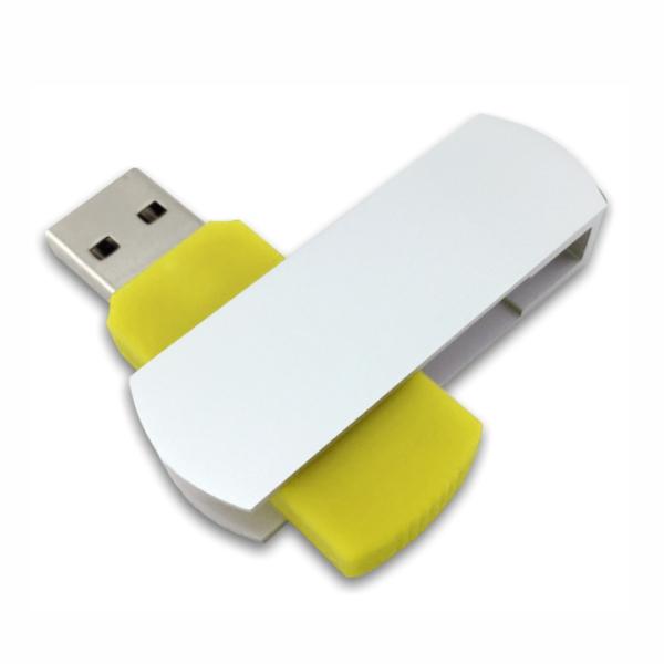 Flip USB Metal - Yellow