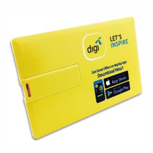 Credit Card USB Flash Drive Printed with Digi Logo from Easydrive Malaysia