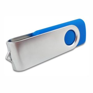 Swivel USB Flash drive – Metal Flip- Blue Colour – Easydrive Malaysia
