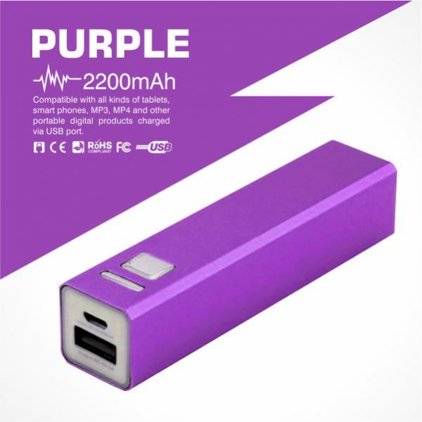Tube Power Bank-Purple from Easydrive Malaysia