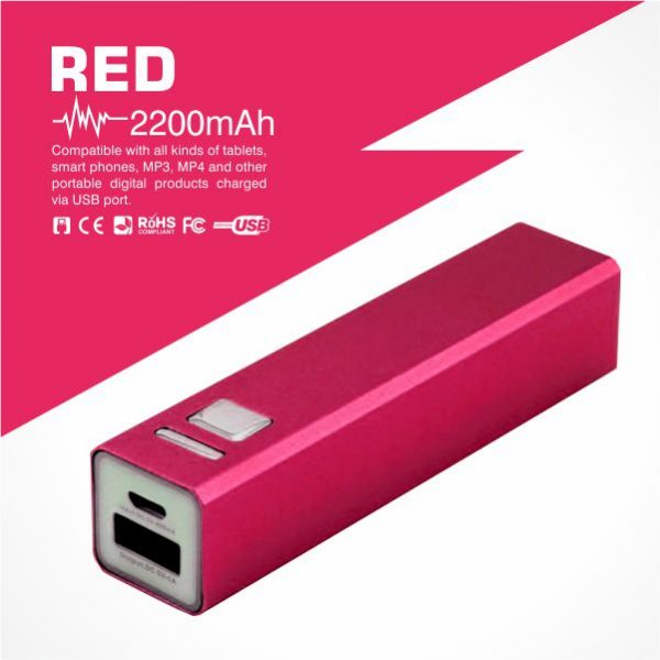Tube Power Bank-Red - from Easydrive Malaysia