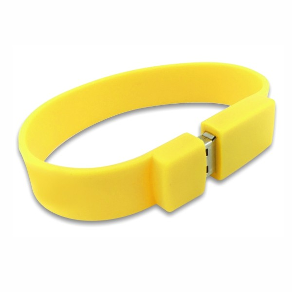 Wristband USB pendrive in Yellow Colour - Easydrive Malaysia