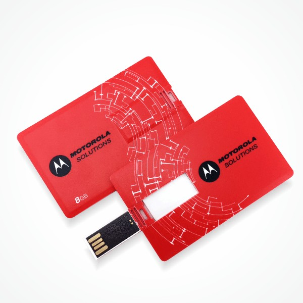Flip Card USB Flash Drive - Red Motorola Logo - Easydrive Malaysia