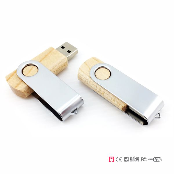 Recycled wood usb flash drive